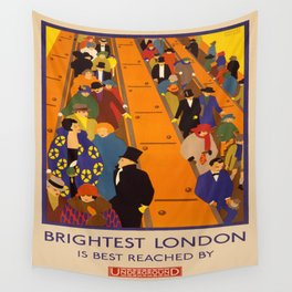 Vintage poster - Brightest London Wall Tapestry