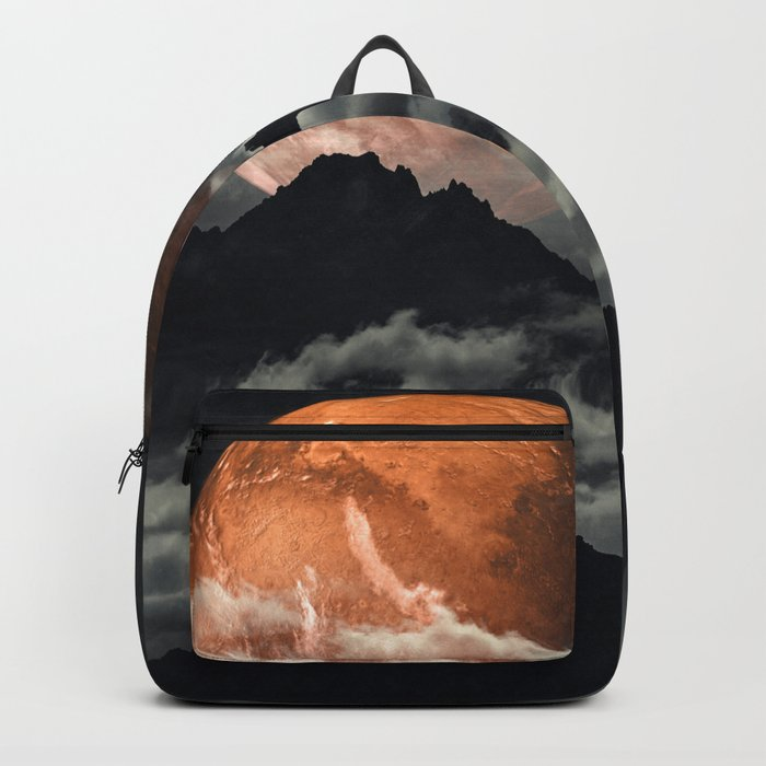 Spaces III - Mars above mountains Backpack