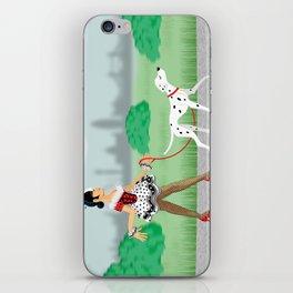 Walkin' the Dog iPhone Skin