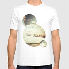 your street White MEDIUM Mens Fitted Tee