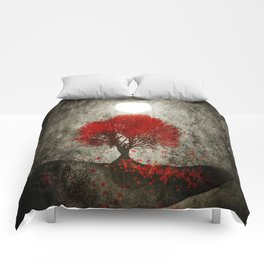 Red autumn. Comforters