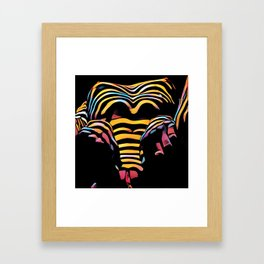 1276s-MAK Intimate Nude Abstraction Striped Torso With Hands On Thighs Framed Art Print