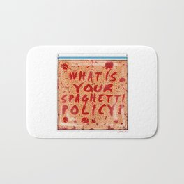 What is your spaghetti policy? -Always Sunny- Fan art Bath Mat