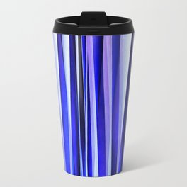 Peace and Harmony Blue Striped Abstract Pattern Travel Mug