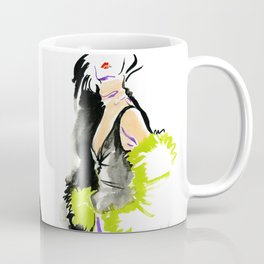 fashion #48: a woman in a fur jacket Coffee Mug