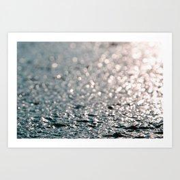 Shiny water Art Print