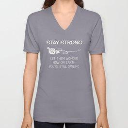 Stay Strong (Darks) Unisex V-Neck
