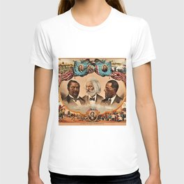 1881 African American 'Heroes of the Colored Race' Library of Congress Print Poster T-shirt