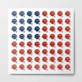 American Football Flag Metal Print