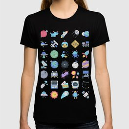 CUTE OUTER SPACE / SCIENCE / GALAXY PATTERN T-shirt