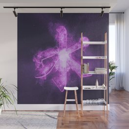 Confucian symbol. Chinese philosophy. Abstract night sky background. Wall Mural