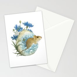 Field Mouse and Celestite Geode Stationery Cards