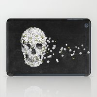 death iPad Cases featuring A Beautiful Death - mono by Terry Fan