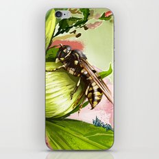 Wasp on flower 6 iPhone & iPod Skin
