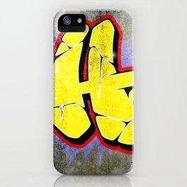 H - Graffiti letter (Wild Style) iPhone Case