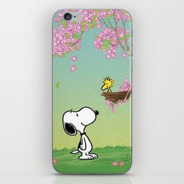 Woodstock in the Cherry Blossoms Posters iPhone Skin
