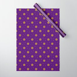 Astrological Purple Stars and Sun Wrapping Paper