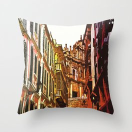 the little Macau from the LOVE ROAD Throw Pillow