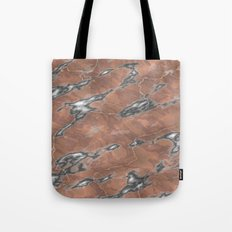 pink and grey marble texture Tote Bag