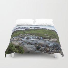 Edith Creek and Mount Rainier Duvet Cover