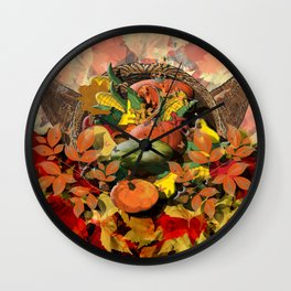 Horns of Plenty Wall Clock