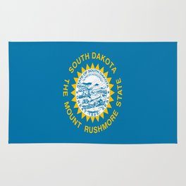 flag of south dakota,america,us,mount rushmore,dakotan,midwest,Sioux fall,rapid city,aberdeen,Pierre Rug