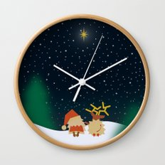 Nicolas&Rudolph (Star) Wall Clock