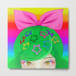 Harajuku Girl Metal Print