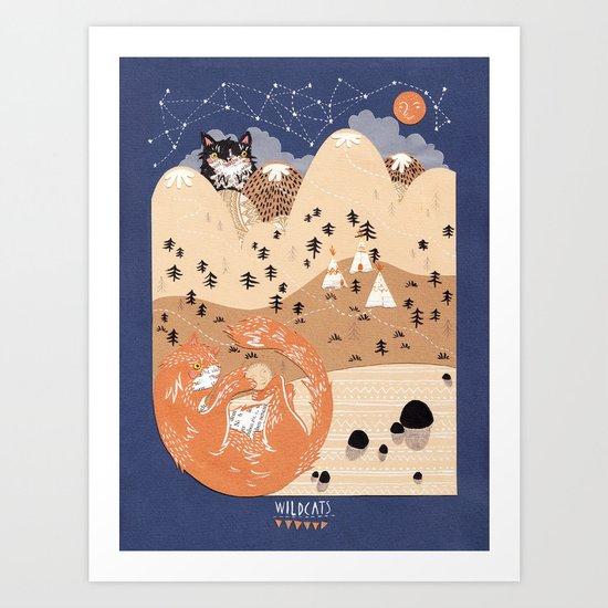 Odin and Balder Art Print