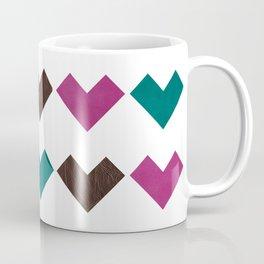 leather geometric love on white Coffee Mug