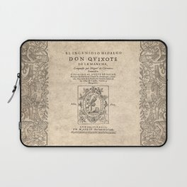 Cervantes. Don Quijote, 1605. Laptop Sleeve