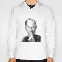 steve jobs Hoodies featuring Steve Jobs caricature by michelepetrelli