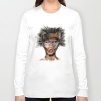 superheroes Long Sleeve T-shirts featuring Superheroes SF by Irmak Akcadogan