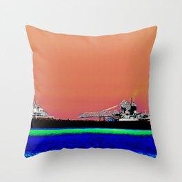 Solarized Ship Throw Pillow
