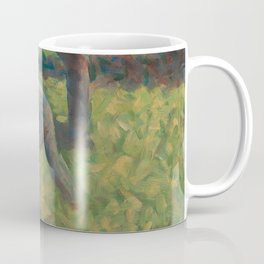 Peasant with a Hoe Oil Painting by Georges Seurat Coffee Mug