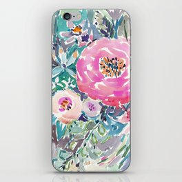 Wild Peony Floral iPhone Skin