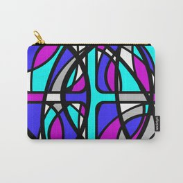Community II - Purple and Blue Abstract Carry-All Pouch