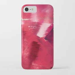 Between Heartbeats [3]: a vibrant abstract piece in a variety of reds by Alyssa Hamilton Art iPhone Case