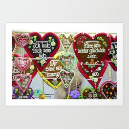 Fairground hearts Art Print