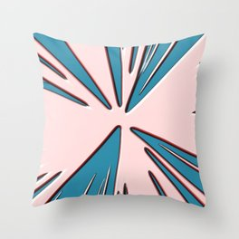 Pink Trance Style Throw Pillow