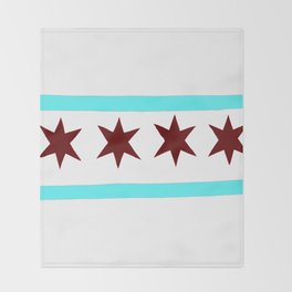 Chicago Flag (traditional) Throw Blanket