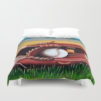 baseball Duvet Covers featuring Baseball by A Calcines
