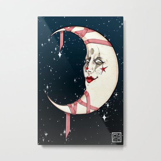 The Clown Moon Metal Print