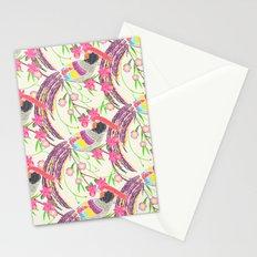 Paper Cut Birds [light] Stationery Cards