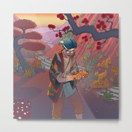 Ukiyo-e tale: The curse Metal Print
