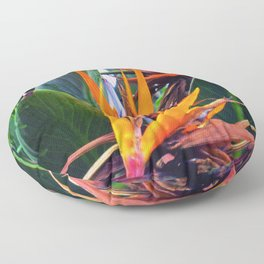 Tropical Flowers Floor Pillow