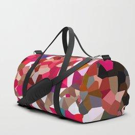 Ruby Red Heart Moon Love Duffle Bag