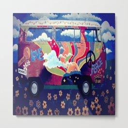 Hippie Van Metal Print