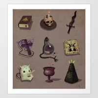 occult Art Prints featuring Occult items by henri kutvonen