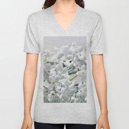 Spring white 026 Unisex V-Neck